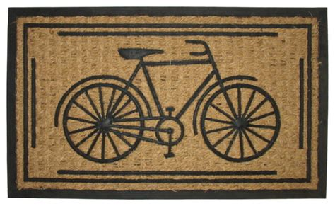 bicycle rubber st bike rubber coir mat contemporary doormats by