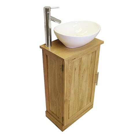 bathroom basin vanity units 50 slimline cloakroom oak vanity unit with basin