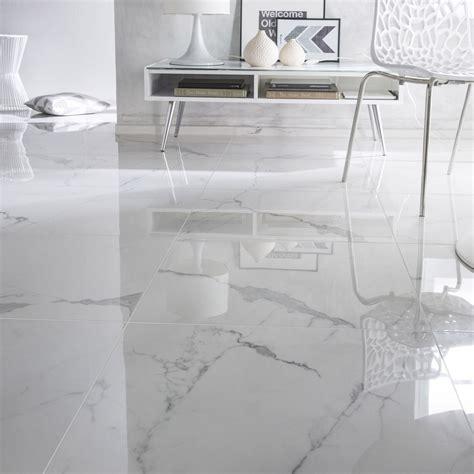 carrelage sol et mur blanc effet marbre rimini l 60 x l 60 cm leroy merlin