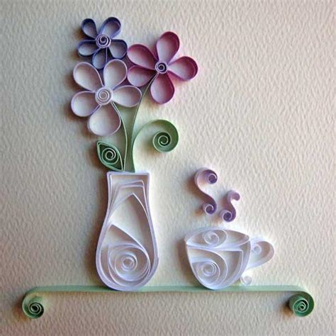 paper crafts projects you to see quilling tea cup and vase by cecelia louie