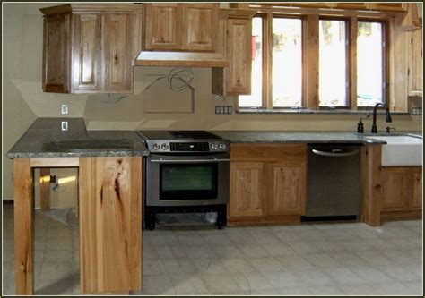 lowes hickory kitchen cabinets hickory kitchen cabinets with countertop home
