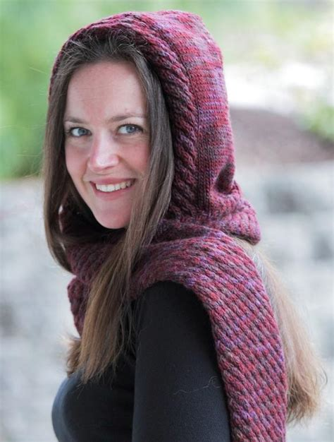 hooded shawl knitting pattern find the hooded scarf knitting pattern