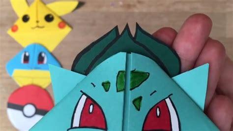 how to make origami bulbasaur easy bulbasaur diy bookmark origami inspired