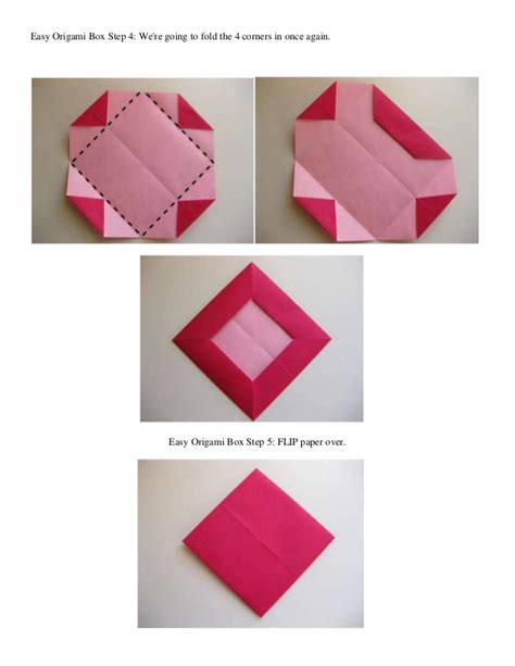 easy origami boxes easy origami box step 1