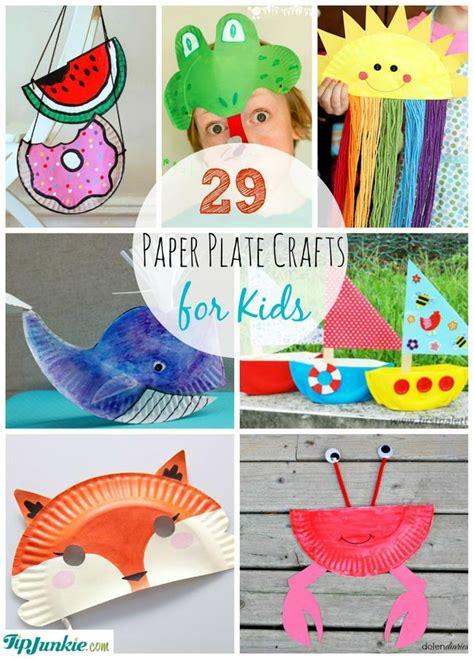paper craft work for children 29 paper plate crafts for tip junkie