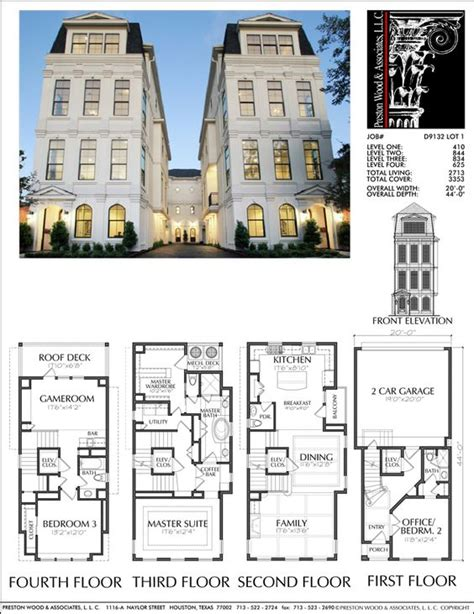 townhome floor plan townhouse plan d9132 lots 1 4 plans