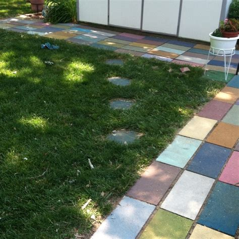 painting patio pavers painting patio pavers painting a concrete patio to look