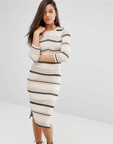river island knitted dress river island river island striped knitted midi dress