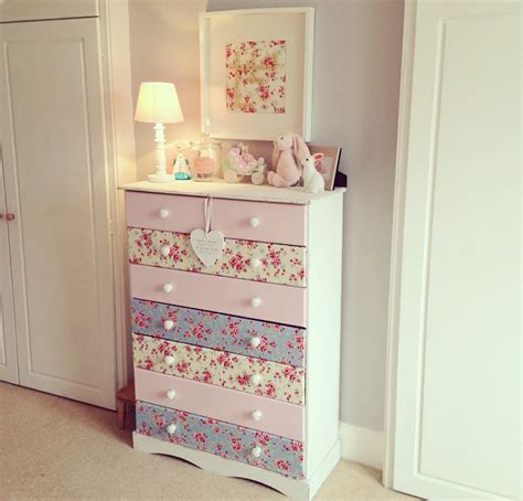 decoupage dresser with fabric the home that made me diy makeover decoupage chest of