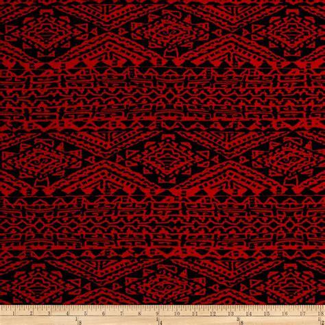 ity knit fabric stretch ity knit aztec print black discount designer