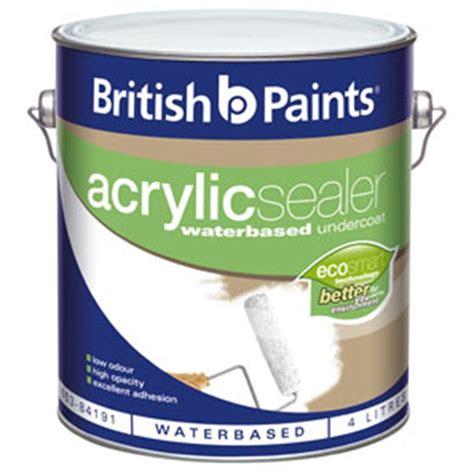 acrylic paint sealant paints 4l white acrylic sealer undercoat i n