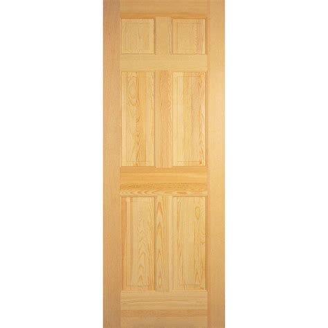 interior panel doors home depot builder s choice 30 in x 80 in 6 panel solid unfinished clear pine single prehung