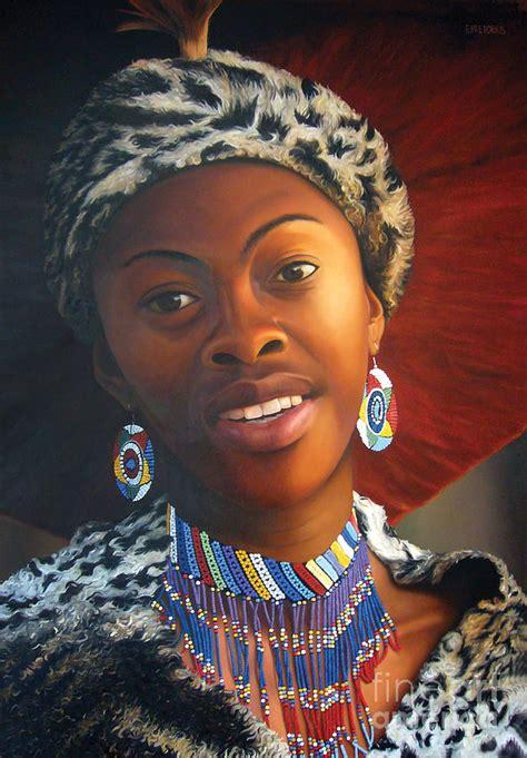 zulu painting zulu painting by edgar pretorius