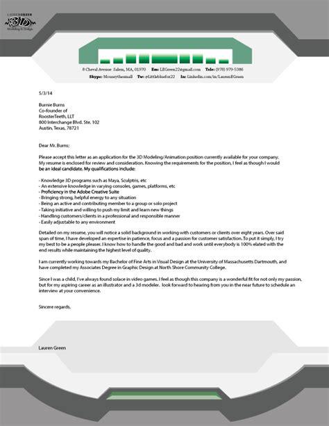 lauren green illustration amp 3d modeling cover letter