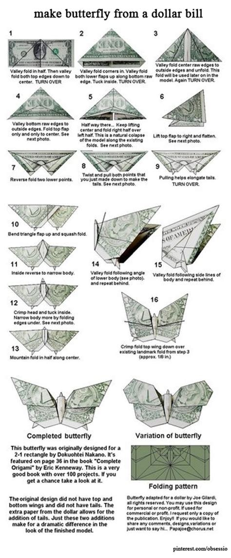 money origami butterfly make butterfly from a dollar bill dollar orgamis and