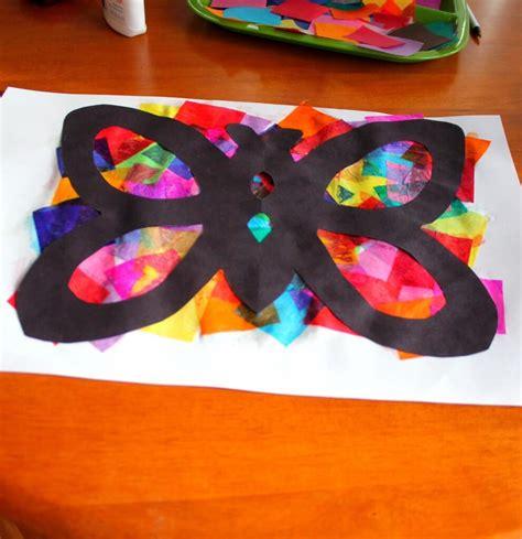 tissue paper butterfly craft tissue paper butterflies playdough to plato