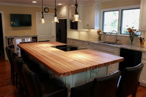 butcher block kitchen island breakfast bar wood top kitchen island kitchen traditional with butcher block hickory counter beeyoutifullife