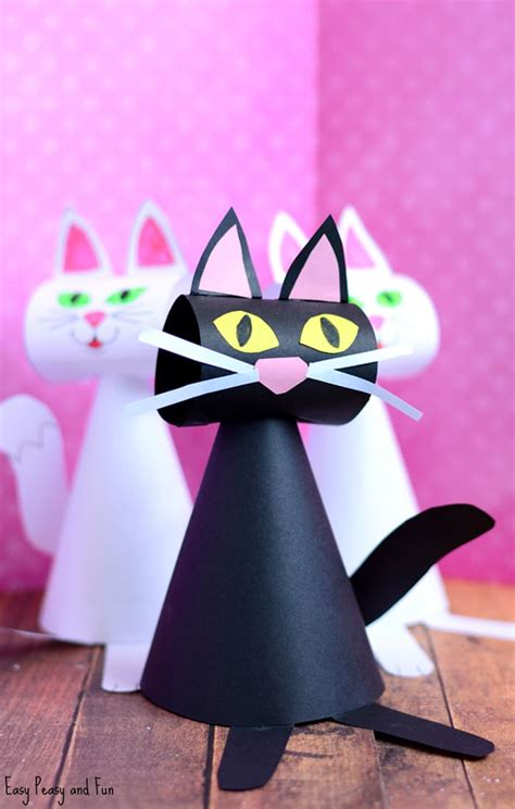 cat craft for paper cat craft template easy peasy and