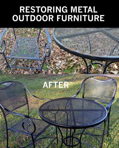 repainting outdoor metal furniture 1000 ideas about painting patio furniture on