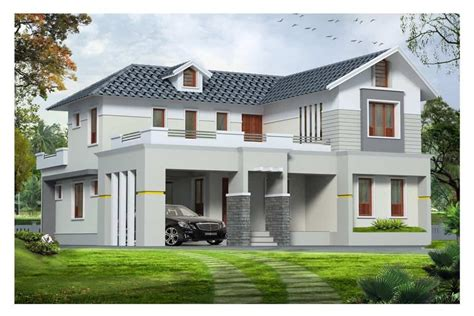 style house western style exterior house design kerala at 1890 sq ft
