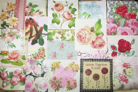 decoupage with paper napkins 20 decoupage paper napkins roses pink flowers mixed ebay