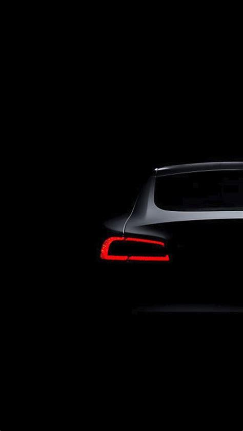Black Car Wallpaper Iphone 6 by Tesla Model S Brake Light Iphone 6 Hd Wallpaper