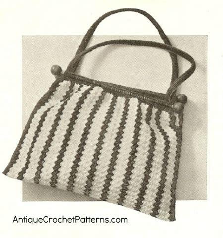 crochet knitting bag crocheted knitting bag free vintage crochet pattern