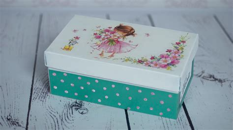 how to decoupage a box decoupage tutorial shoe box