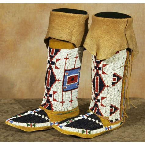 beaded moccasins and sioux s beaded moccasins and