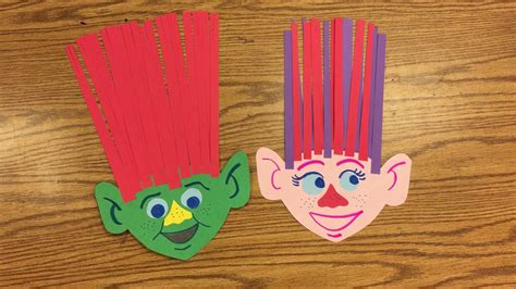 and crafts for dreamworks trolls craft