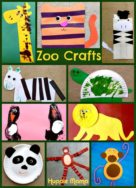 zoo crafts for zoo animals huppie