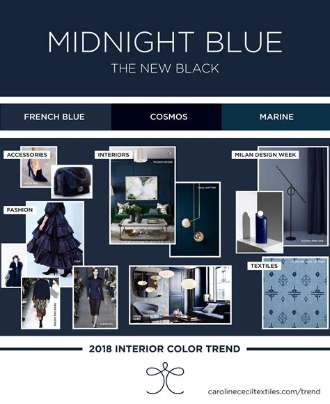 interior color trends 2018 indigo blue midnight blue