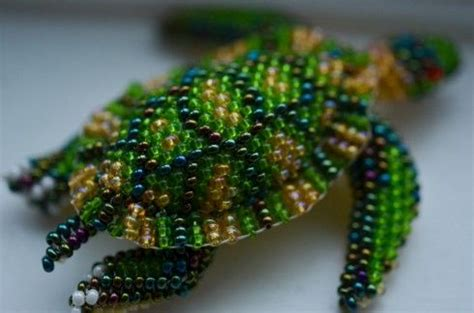 3d beaded turtle pattern search handmade and on