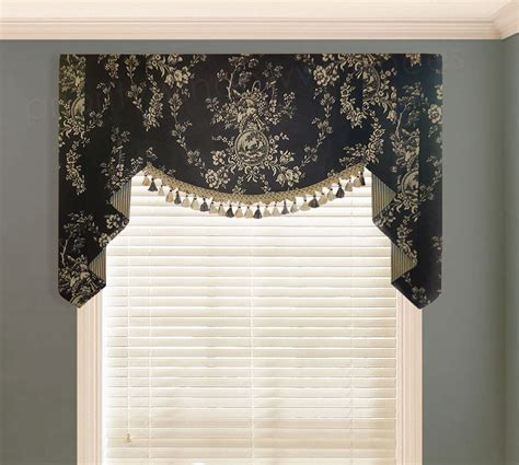 toile kitchen curtains waverly country house toile black valance valances pwv