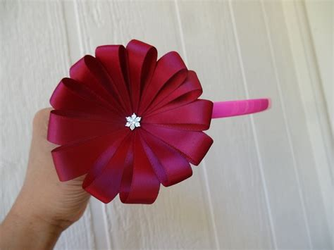 how to make from flowers how to make ribbon flower in 5 minutes