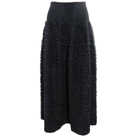 knit ruffle skirt alaia black knit ruffle skirt for sale at 1stdibs
