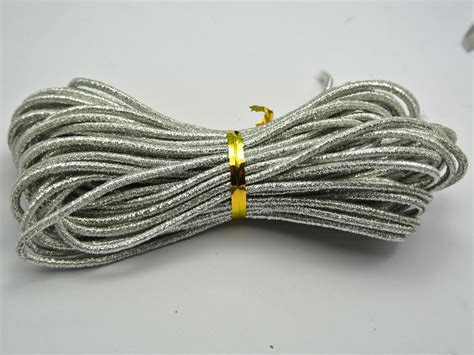 how to string on stretch cord 10 meters glitter silver elastic stretch string shock cord