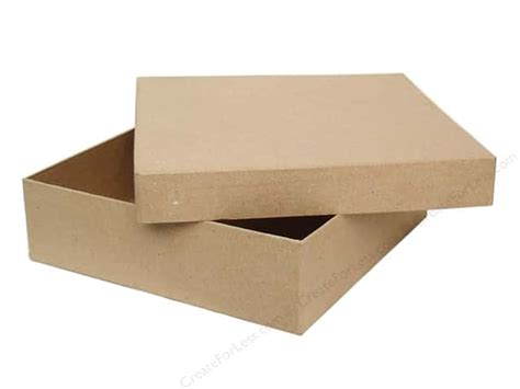 craft paper boxes paper mache square chipboard box by craft pedlars 6