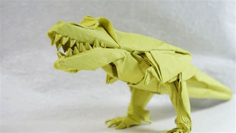 tyrannosaurus origami origami t rex part1 3 versi on the spot