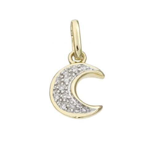14k gold jewelry supplies 14k gold 10mm moon charm wholesale
