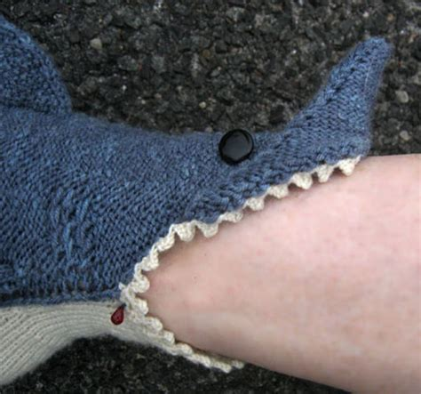 knitted shark booties shark socks biting your