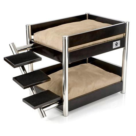 puppy bunk beds metropolitan bunk bed sleek bed for multi pet