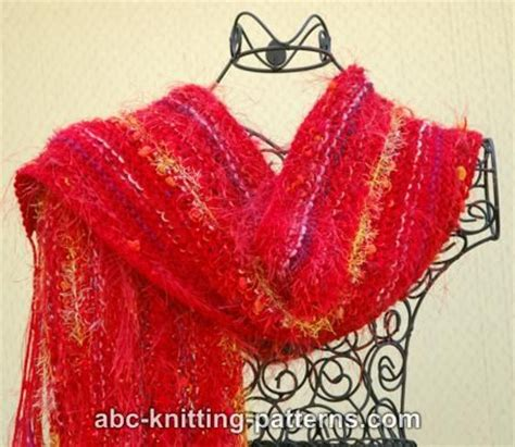 fancy scarf knitting patterns abc knitting patterns easy fancy yarn scarf