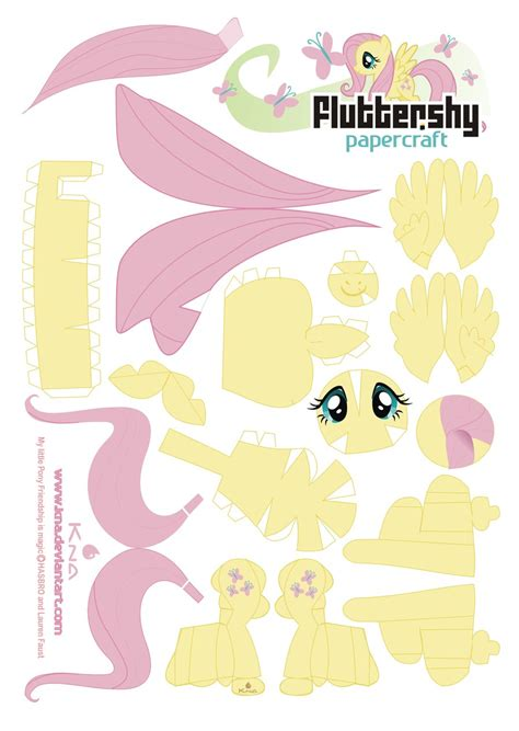 my paper crafting fluttershy papercraft by kna on deviantart