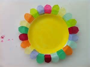 paper plates arts and crafts daycare crafts tissue paper and paper plate flower craft