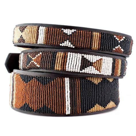 beaded collars earth beaded leather collar