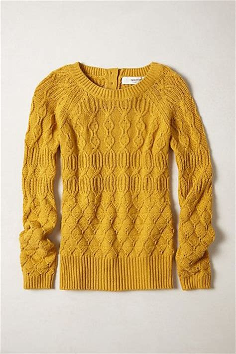 mustard cable knit sweater anthropologie mustard and sweaters on