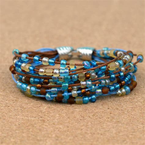 how to make a seed bead bracelet easy boho beaded bracelet happy hour projects