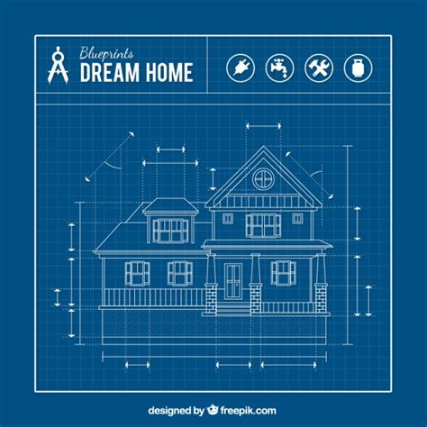 blueprints houses house blueprint vector free