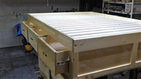 how to make a size bed frame with drawers make a size bed frame with 3 drawers